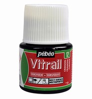 Pebeo glasverf Vitrail 12 Transparent - Crimson 45ml