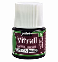 Pebeo glasverf Vitrail 19 Transparent - Red Violet 45ml