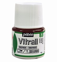 Pebeo glasverf Vitrail 20 Transparent - White