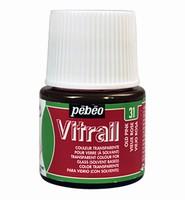 Pebeo glasverf Vitrail 31 Transparant Old Pink 45ml
