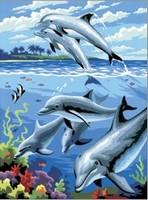 Painting by numbers R&L PJS24-3T Dolfijnen 22,5x30cm