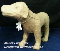 Decopatch SA111O Papier mache Hond retriever