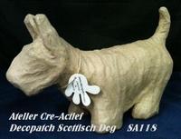 Decopatch SA118O Hond Schotse terrier/Westy 23x14,5x8cm