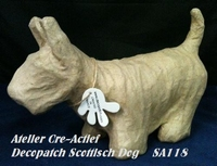 Decopatch SA118O Papier mache Hond Schotse terrier/Westy