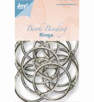 JoyCrafts 6200-0123 Boekbindersringen zilverkleurig 45mm/12stuks