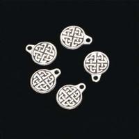 H&C11808-1727 Bedel Keltische button ant. zilver 5 stuks 15mm