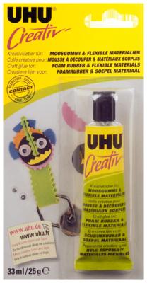 UHU foamlijm voor foamrubber art. 47195 33ml/25gram