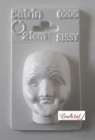 Gietvorm / poppenhoofdmal Heks, Sissy-Catrin 0205 circa 9cm
