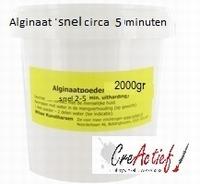 Wilsor alginaat SNEL ca.2 tot 5 minuten uitharding (geel) emmer 2 kilo