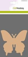 Craftemotions MDF basisvorm Vlinder 10cm/3st. 812301-0115 10cm/3mm 3stuks