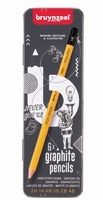 Bruynzeel grafiet potloden set blik 6 stuks 60211006 AANBIEDING BTS