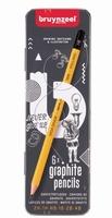 Bruynzeel grafiet potloden set blik 6 stuks 60211006