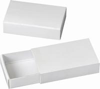 Wit kartonnen luciferdoosjes/schuifdoosjes KP8735770 10stuks