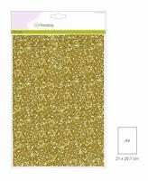 Glitterpapier 5vel/A4/120grams CE001290_0155 Goud