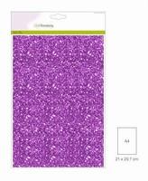 Glitterpapier 5vel/A4/120grams CE001290_0130 Paars