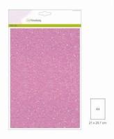 Glitterpapier 5vel/A4/120grams CE001290_0140 Roze