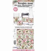 Krimpfolie Sleeves SHRINKRB14 Romantic Botanic 14 26x7cm/4stuks