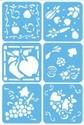 DecoArt Ultra Stencils UST13 Fruits and Veggies OP=OP