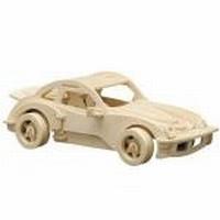Pebaro houten bouwpakket PB0865/4 Duitse sportwagen 25x12cm