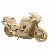 Pebaro houten bouwpakket PB0865/8 Racemotor 27x14cm