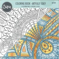 Sizzix Coloring Book 661530 Artfully Edgy, Jen Long boek 20x20cm