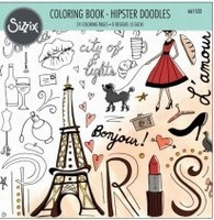 Sizzix Coloring Book 661533 Hipster Doodles, Lindsy Serata