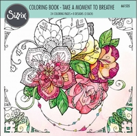 Sizzix Coloring Book 661535 Take a moment to breathe, Lizard