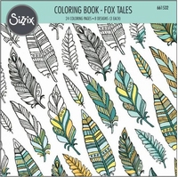 Sizzix Coloring Book 661532 Fox Tales, Jen Long