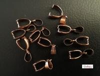 Knijplus/Hangerklem+oog JHO000 antiek koper glad 10stuks