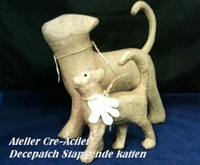 Decopatch SA729O Poes lopend (stappende kat S)  20x19x6cm
