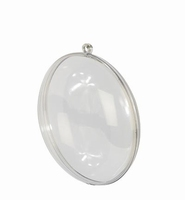 Transparante acryl Medaillon 3432/216918239 11 cm