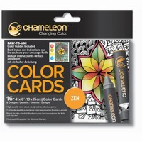 Chameleon embossed Color Cards CC0103 Zen  10x15cm 16cards