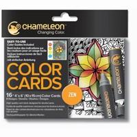 Chameleon CC0103 embossed Color Cards Zen