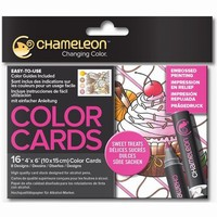 Chameleon CC0108 embossed Color Cards Sweet Treats