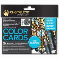 Chameleon CC0107 embossed Color Cards Mini Mandalas