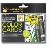 Chameleon CC0102 embossed Color Cards Flowers