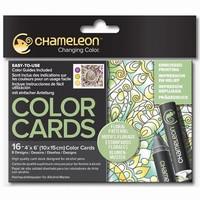Chameleon CC0105 embossed Color Cards Flower Patterns