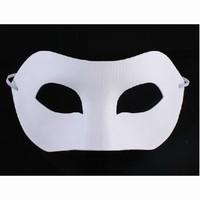 Masker Witte geperste papierpulp DH010 Venetian oogmasker
