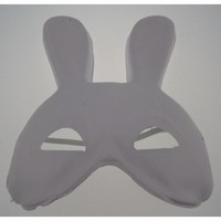 Masker Witte geperste papierpulp DH001 Half Bunny