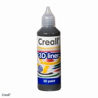 Creall 3D paint liner 15 Zwart 80ml