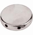 Pardoworld sieraad basis round  zilver 28mm 48337 3 stuks