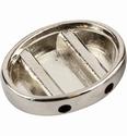 Pardoworld sieraad basis Ovaal zilver 21x28mm 48334