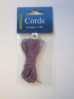 H&C Fun 12282-8205 Waxed Cotton Cord 0,5mm  Violet paars