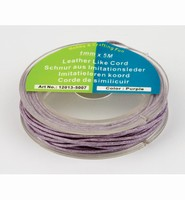 H&C Fun 12013-5007 Immitatie leren koord Purple 1mm