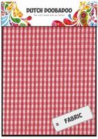 DDBD Dutch Fabric Art 400.903.011 Rood-witte ruitjes (2x) 15x20cm
