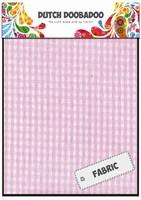 DDBD Dutch Fabric Art 400.903.012 Roze-Witte ruitjes (2x) 15x20cm