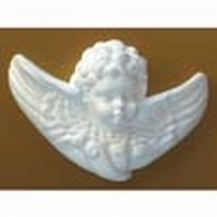 Styropor engelkopje met vleugels DH83103B 12cm
