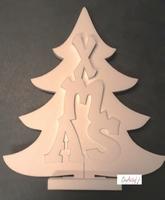Styropor snijvorm Kerstboom XMAS groot 53cm/3-delig 53x44cm/2,5cm