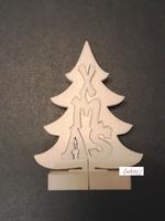 Styropor snijvorm Kerstboom XMAS klein 26cm/3-delig 26x19cm/2,5cm
