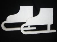 Styropor snijvorm Kunstschaatsen mini 10cm (set van 2)